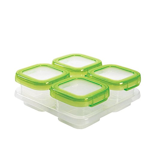 OXO tot freezer storage containers, good for traveling with baby