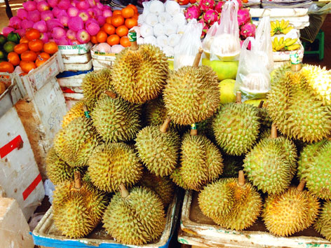 Durian from a market in Cambodia
