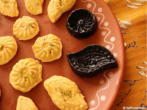 Recipe for aam sandesh, or mango fudge, a Bengali sweet from Calcutta