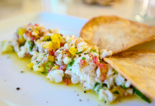 Fish ceviche from the Ginger Hotel in Tulum, Mexico.