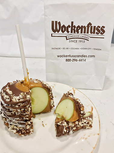 Caramel apples from Wockenfuss in Ocean City, Maryland