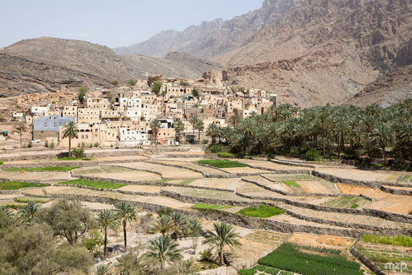 Bilad Sayt, a picturesque Arabian village in Oman near Jebel Shams.