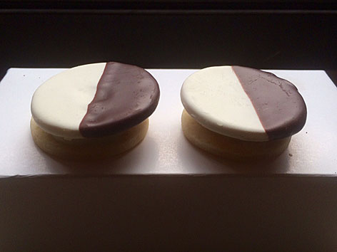 Black and white cookies from Eleven Madison Park in NYC