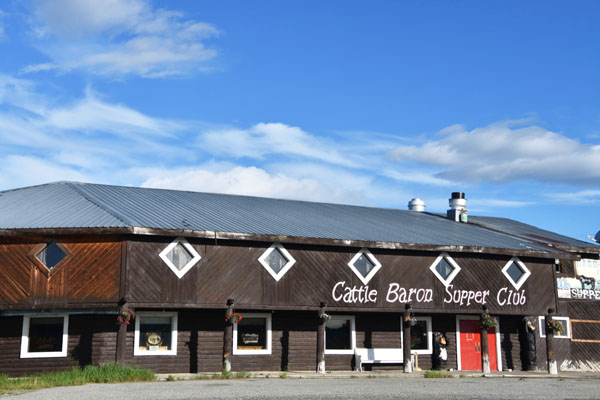 Exterior Cattle Baron Supper Club, a steakhouse just outside Glacier National Park in Montana