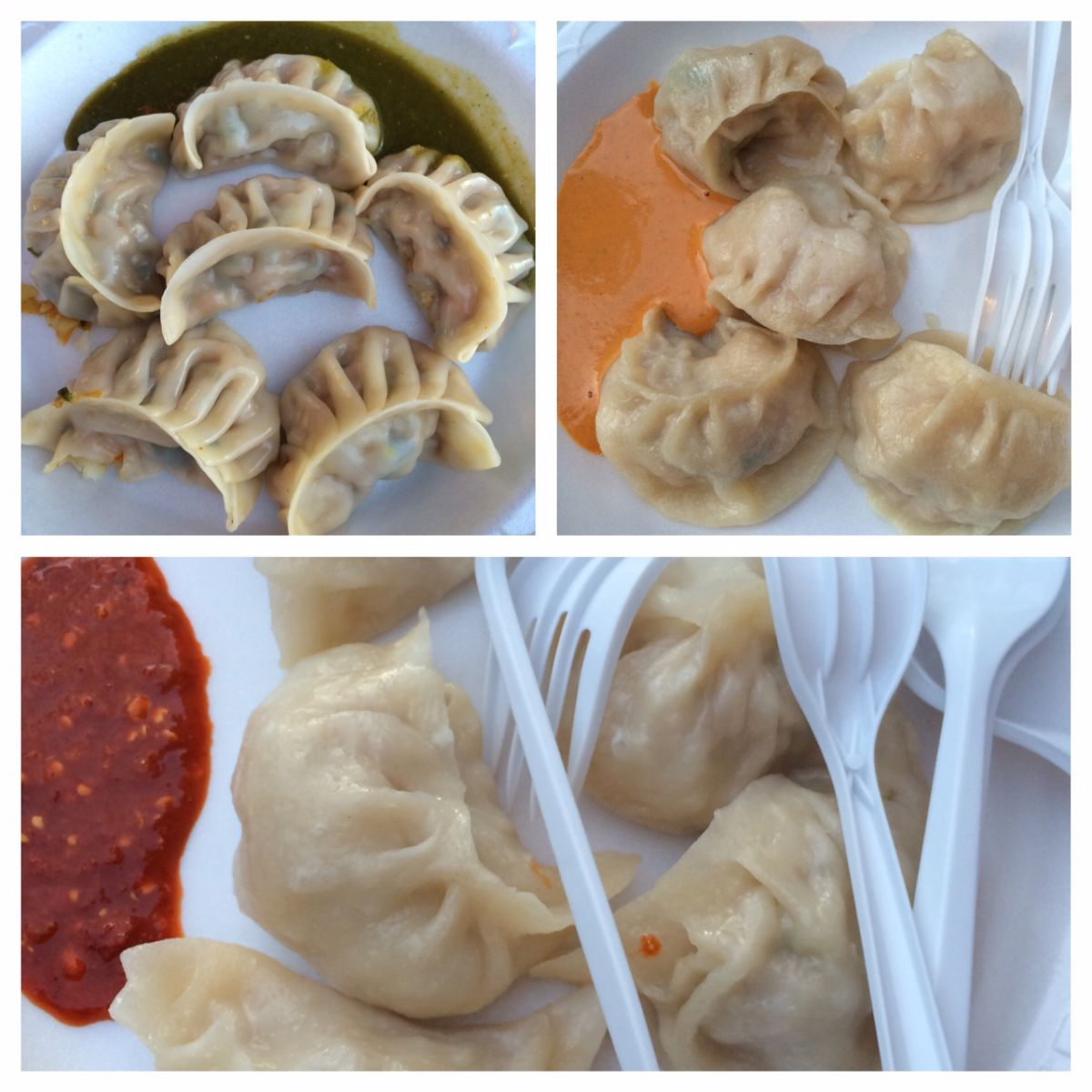 Selection of momos from Jackson Heights, Queens
