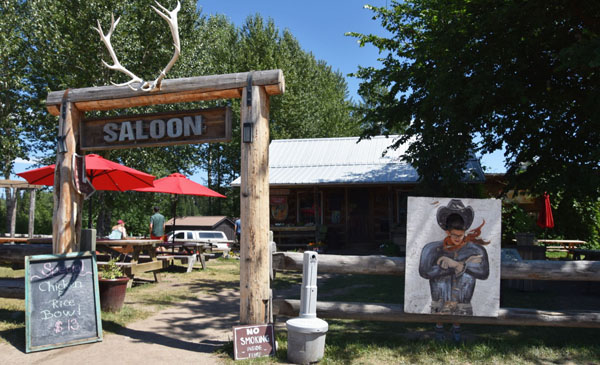Exterior shot of the Northern Lights Saloon in Polebridge, Montana