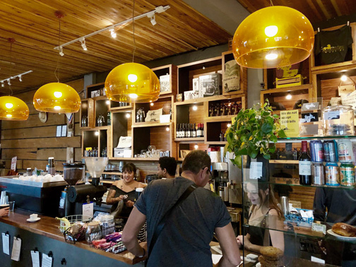Interior of Panther Coffee in Wynwood, Miami.