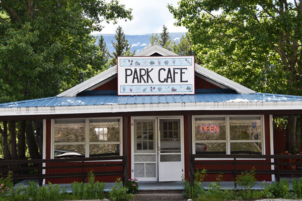 Exterior Park Cafe, the best place for pies near Glacier National Park, Montana