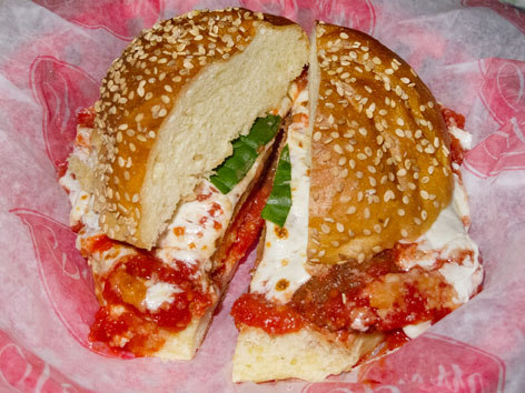 Meatball parm sandwich from Parm, New York City