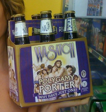 Polygamy Porter craft beer from Utah