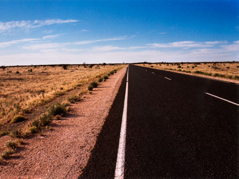 The Stuart Highway, in the Australian Outback