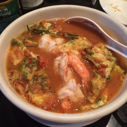 Kaeng som, or sour curry, from a Thai restaurant in New York