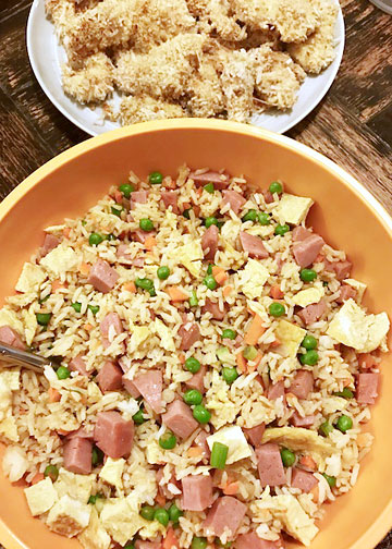 Spam fried rice and coconut chicken recipes