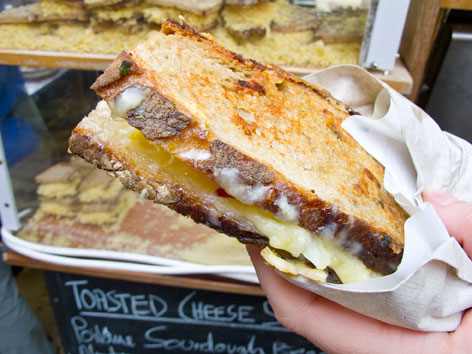 Toasted cheese sandwich at Borough Market, London