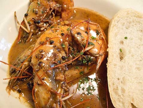 New Orleans-style BBQ shrimp from Mr. B's Bistro, in New Orleans
