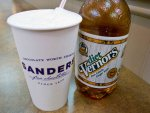 A Boston cooler and Vernors soda from Sanders in Detroit, Michigan.