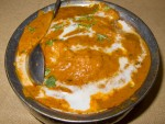 Butter chicken from Pindi in Delhi, India.