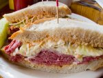 A corned beef or Dinty Moore sandwich from Russell Street Deli in Detroit.