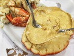 Sapateira recheada, a Portuguese stuffed-crab dish, from a popular seafood restaurant in Lisbon.
